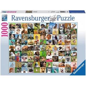 Ravensburger 19642 - 99 lustige Tiere, Puzzle, 1000 Teile