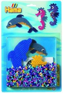 Hama 4083 - Meer Set, Delphin + Seepferdchen Stiftplatte mit ca.