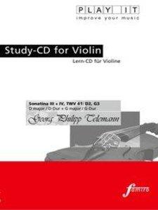 Study-CD Violin - Sonatina III+IV TWV 41: D2,G3