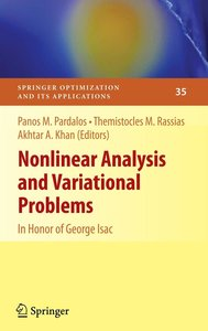 Nonlinear Analysis and Variational Problems