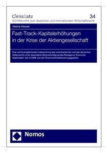 Fast-Track-Kapitalerhöhungen in der Krise der Aktiengesellschaft