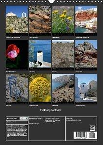 Exploring Santorini (Wall Calendar 2015 DIN A3 Portrait)