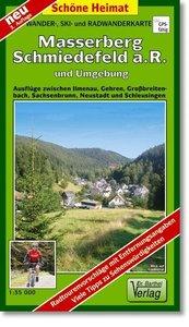 Masserberg, Schmiedefeld a. R. und Umgebung 1 : 35 000. Wander-,
