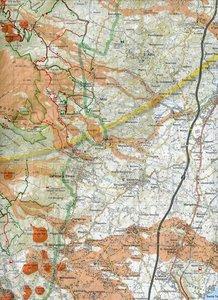 Ätna - Alcantara - Simeto 1 : 50 000 Touristische topografische