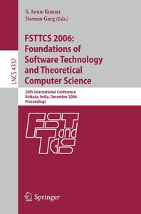 FSTTCS 2006: Foundations of Software Technology and Theoretical