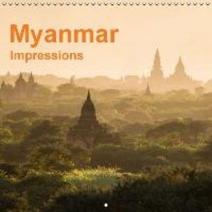 Myanmar - Impressions (Wall Calendar 2015 300 × 300 mm Square)