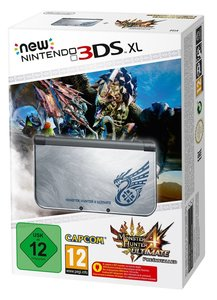 Nintendo New 3DS XL Konsole - Silber inkl. Monster Hunter 4 Ulti
