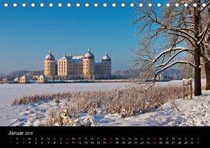 Sächsische Burgen und Schlösser / CH-Version (Tischkalender 2016