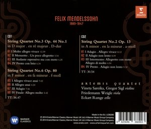 Streichquartette a-moll op.13,D-Dur op.44 1