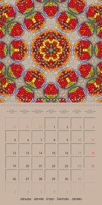Tomato Kaleidoscope (Wall Calendar 2015 300 × 300 mm Square)