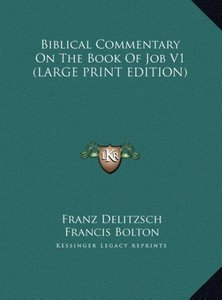 Biblical Commentary On The Book Of Job V1 (LARGE PRINT EDITION)
