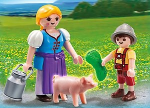 PLAYMOBIL® 5514 - Duo Pack: Bäuerin und Junge
