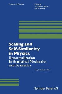 Scaling and Self-Similarity in Physics