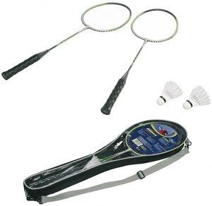Hudora 76405 - Badmintonset Champion RS-88, 2 ALU-Schläger, Tasc