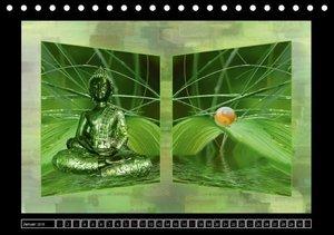 Buddha - Harmonie und Entspannung (Tischkalender 2016 DIN A5 que
