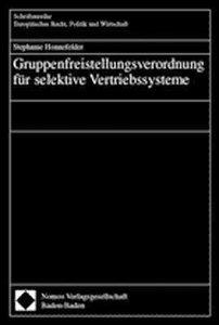 Gruppenfreistellungsverordnung für selektive Vertriebssystem