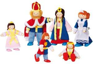 Goki 51797 - Biegepuppen Königsfamilie