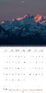 Summits of the Eastern Alps (Wall Calendar 2015 300 × 300 mm Squ
