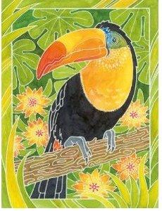 Exotische Vögel. Aquarelle-Malen Mini