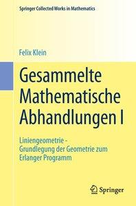 Gesammelte Mathematische Abhandlungen I
