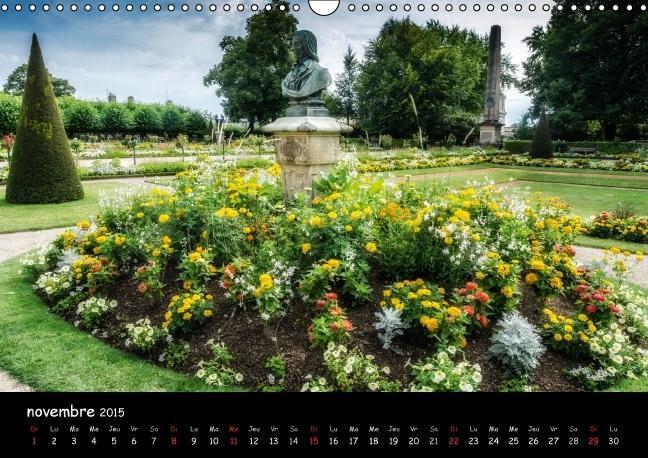 Bourges, des jardins dans la ville (Calendrier mural 2015 DIN A3 - zum Schließen ins Bild klicken