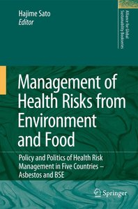 Management of Health Risks from Environment and Food