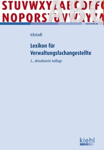 Ickstadt, E: Lexikon für Verwaltungsfachangestellte.