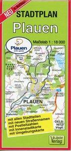 Stadtplan Plauen 1 : 18 000