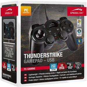Speedlink SL-6515-BK THUNDERSTRIKE Gamepad-USB, Controller, schw