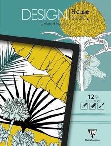 Malbücher verleimt für Erwachsene: Design Home Book 13x17cm Pfla
