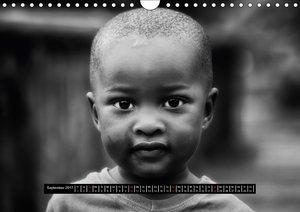 Menschen Afrikas schwarzweiß