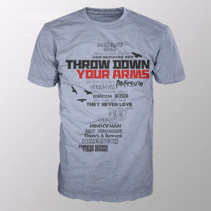 Throw Down Your Arms (Shirt XL/Grey)