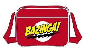 The Big Bang Theory BAZINGA Umhängetasche, Messenger Bag, rot