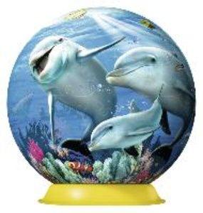 Süße Delfine. 3D Puzzle-Ball 108 Teile