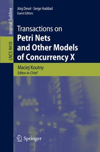Transactions on Petri Nets and Other Models of Concurrency X