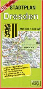 Dresden 1 : 22 500. Barthel Stadtplan
