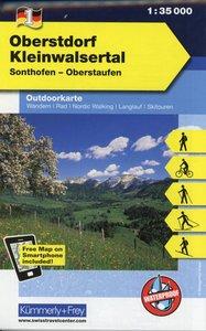 KuF Deutschland Outdoorkarte 01. Oberstdorf - Kleinwalsertal 1 :
