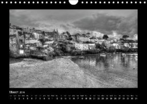 Cornwall - Black and White (Wall Calendar 2015 DIN A4 Landscape)