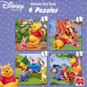 Disney Winnie the Pooh 4 in 1 Puzzle - 4/6/9/16 Teile