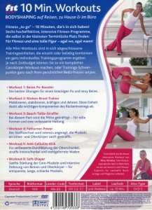 10 Min.Workout Bodyshaping auf Reisen,zu Hause &im