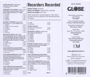 Recorders Recorded