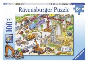 Riesige Baustelle. Puzzle 100 Teile XXL