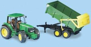 Bruder 2058 - John Deere: Traktor mit Wannenkipper