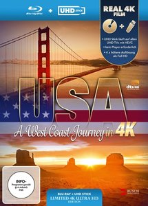 USA - A West Coast Journey (UHD Stick in Real 4K + Blu-ray). Lim