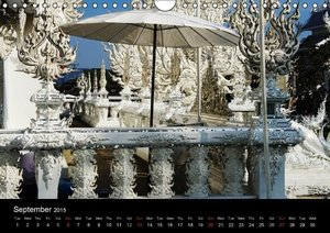 White Temple, Thailand / UK Version (Wall Calendar 2015 DIN A4 L
