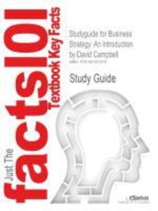 Studyguide for Business Strategy