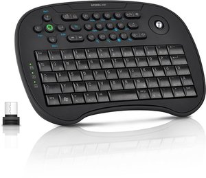 SCION Trackball Media Tastatur, black SL-6494-RBK