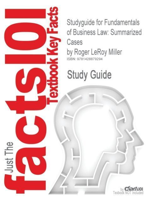 Studyguide for Fundamentals of Business Law - zum Schließen ins Bild klicken