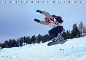Snowboarden - ein Stück Freiheit (Tischkalender 2016 DIN A5 quer