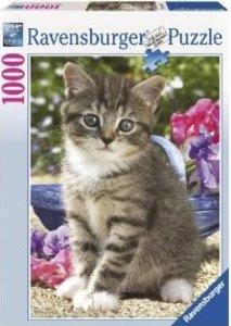 Kätzchen im Garten. Puzzle 1000 Teile